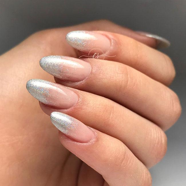 Nail art semplice e veloce glitter