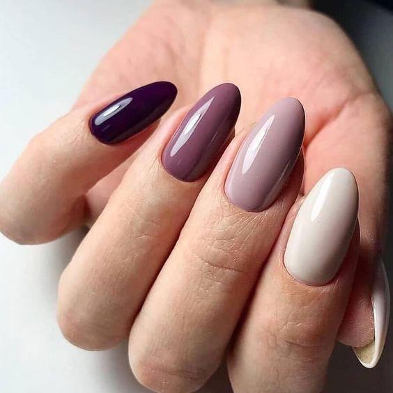 Nail art semplice gradient nails