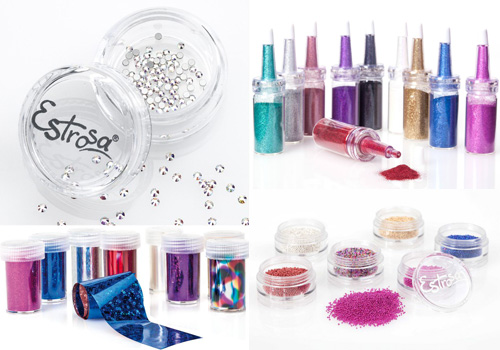 Glitter e pietrine decorative per nail art