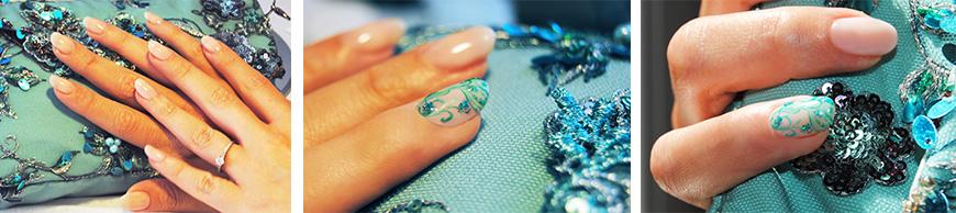 Nail Art realizzata con smalto semipermanente + acrilici