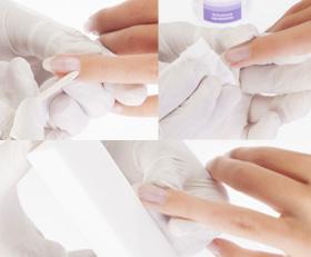 Preparazione unghia per la French Manicure