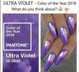 Ultra violet colore dell'anno 2018